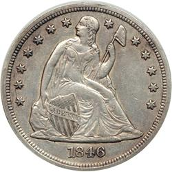 1846 Liberty Seated $1