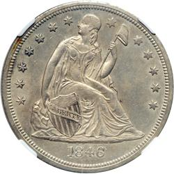 1846-O Liberty Seated $1