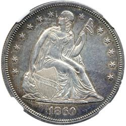 1860 Liberty Seated $1
