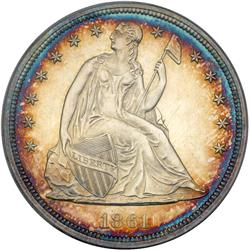 1861 Liberty Seated $1