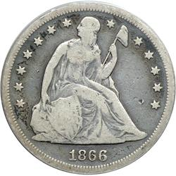 1866 With Motto PCGS graded Genuine