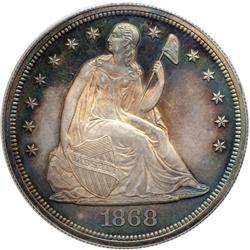 1868 Liberty Seated $1