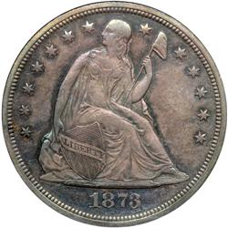 1873 Liberty Seated $1
