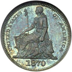 1870 Pattern H10C. J-815 NGC Proof 66