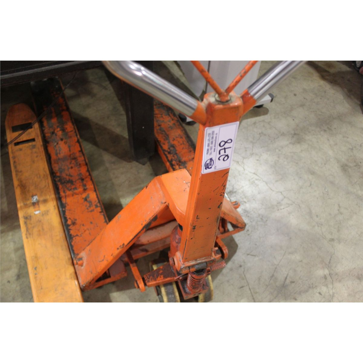 Orange mobile trucks pallet jack for Orange mobel