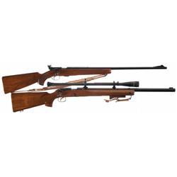Two Winchester Bolt Action Rifles -A) Winchester Model 75 Bolt Action Sporter Rifle
