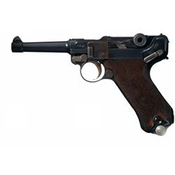 DWM 1917/1920 Double Date Police Luger Pistol with Matching Magazine