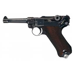 Mauser  S/42  Code 1938 Dated Luger Pistol with Holster