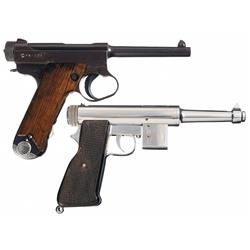 Two Semi-Automatic Pistols -A) Late WWII Japanese Type 14 Large Trigger Guard Nambu Semi-Automatic P