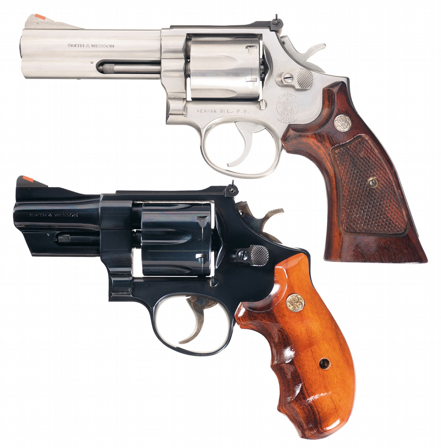 Two Smith & Wesson Revolvers -A) Smith & Wesson Model 686 Double ...