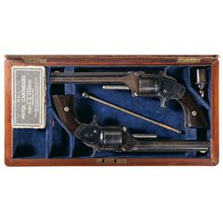 Historic Pair of Factory Cased Smith & Wesson No. 2 Old Army Revolvers -A) Smith & Wesson No. 2 Army