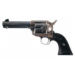 Prewar Colt Single Action Army Revolver with Factory Letter