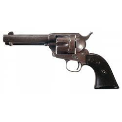 Black Powder Colt Single Action Army Revolver with Factory Letter