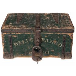 Wells Fargo Marked Strongbox and Colt Marked Padlock