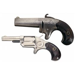 Two Antique Colt Handguns -A) Colt No. 2 Derringer