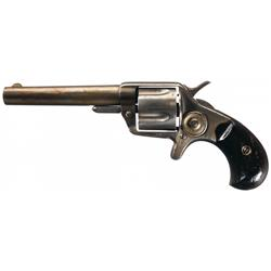 British Proofed Colt New Line 41 Revolver with Scarce 4 Inch Long London Retailer Marked Barrel