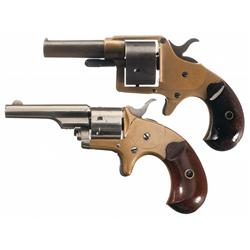 Two Antique Colt Revolvers -A) Colt House Model Round Cylinder Cloverleaf Revolver