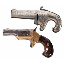 Two Antique Colt Derringers -A) Colt Number 1 Single Shot Derringer