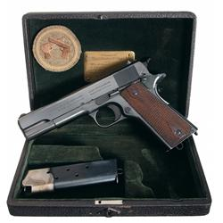 Outstanding Cased Presentation, 1917 Production Colt Government Model Automatic Pistol
