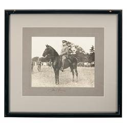 "Framed Photograph and Signature of General ""BLACK JACK"" John Pershing"