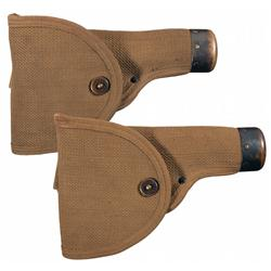 Two Scarce Mills Canvas Model 1911 Holsters