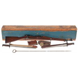 The Finest Known Identified U.S. Springfield Model 1903 Bolt Action Rifle with Shipping Case Accesso