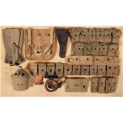 Grouping of U.S. Accoutrements, Mostly From World War I