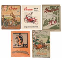 Five Vintage Motorcycle Catalogs