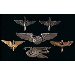 Six Aviation Themed Badges