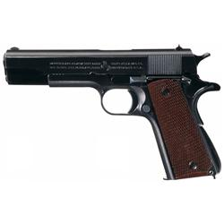 Extraordinary 1941 Production World War II U.S. Colt Model 1911A1 Semi-Automatic Pistol