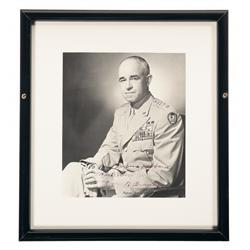Framed and Autographed Picture of General Omar N. Bradley
