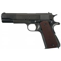 Incredibly Historic Colt Model 1911A1 Semi-Automatic Pistol, former property of Major Henry A. Court