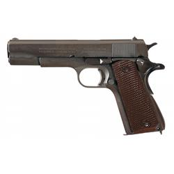 "Late WWII U.S. Colt Model 1911A1 Semi-Automatic Pistol, with Scarce ""JSB"" Inspected Frame"