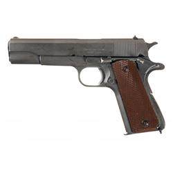 Outstanding U.S. World War II Ithaca Model 1911A1 Semi-Automatic Pistol with Early Production Featur