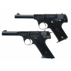 Two U.S. Marked High Standard Semi-Automatic Pistols -A) U.S. Marked High Standard Model B Semi-Auto