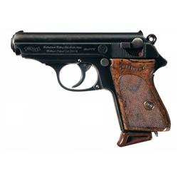 RZM Marked Walther PPK Semi-Automatic Pistol with Extra Magazine and Nazi Belt Rig