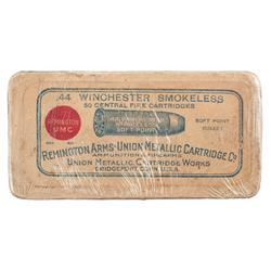 Remington Arms - Union Metallic Cartridge Company Box of Winchester 44 Caliber Cartridges