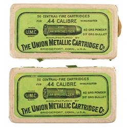 Two Boxes of U.M.C. 44 Caliber Cartridges for Winchester Rifles