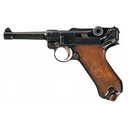 WWI German DWM (1917) Luger Pistol with British Proofmarks