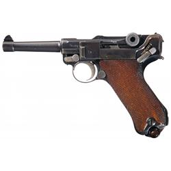 DWM 1920 Dated Police Nazi Rework Luger Semi-Automatic Pistol