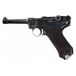 WWII Mauser  byf  Code  41  Dated Luger Semi-Automatic Pistol