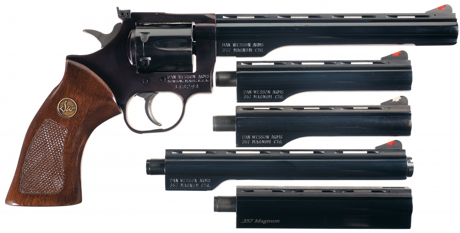 Dan Wesson Model 15 Double Action Revolver with Case and Extra Barrels