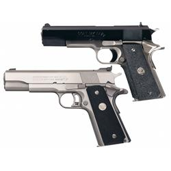 Two Colt Semi-Automatic Pistols -A) Colt MK IV Series 80 Combat Elite Model Semi-Automatic Pistol wi