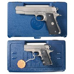 Two Cased Colt Semi-Automatic Pistols -A) Colt MK IV Series 80 Government Model Semi-Automatic Pisto
