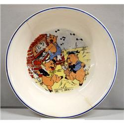 Disney 3 Little Pigs Child's China Bowl