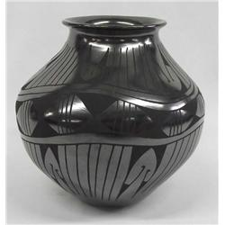 Mata Ortiz Black On Black Pottery by Luci Soto