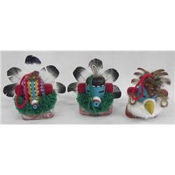 3 Hopi Hanging Kachinas
