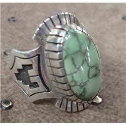 Navajo Royston Turquoise Ring by Alton Bedonie