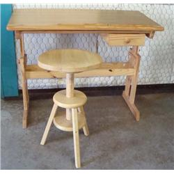 Drafting Table & Stool, MUST BE PICKED UP