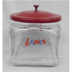 Vintage Lance Glass Cracker Jar
